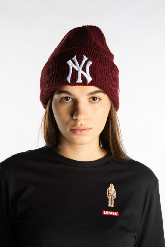 Čiapka NEW ERA LEAGUE ESSENTIAL CUFF KNIT 629 RED