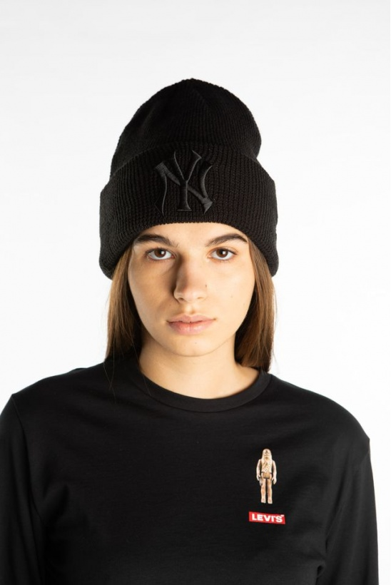 Čiapka NEW ERA LEAGUE ESSENTIAL CUFF KNIT 632 BLACK