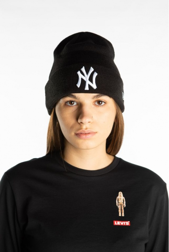 Čiapka NEW ERA MLB ESSENTIAL CUFF 728 BLACK